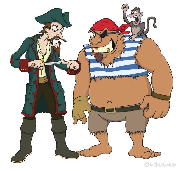 Cartoon Pirates | Freelance cartoonist and illustrator