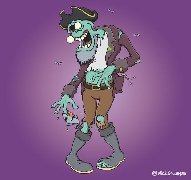 Zombie Pirate Cartoon
