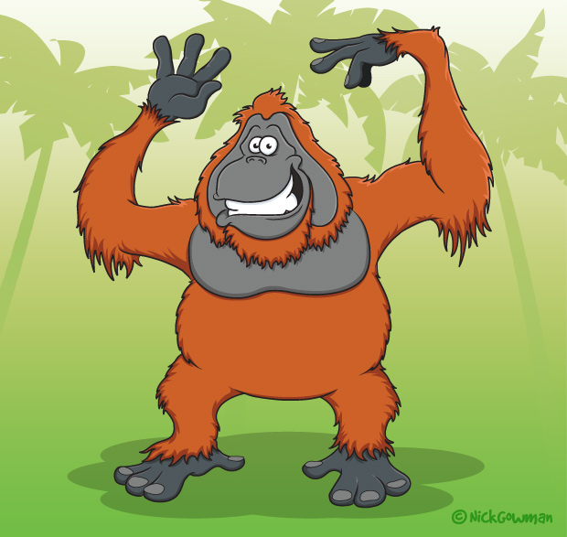 Cartoon Orangutan