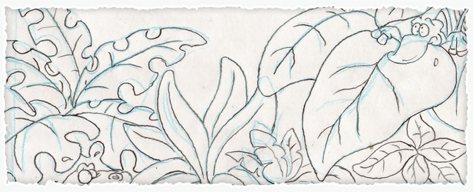 Cartoon Prehistoric Plants Sketch