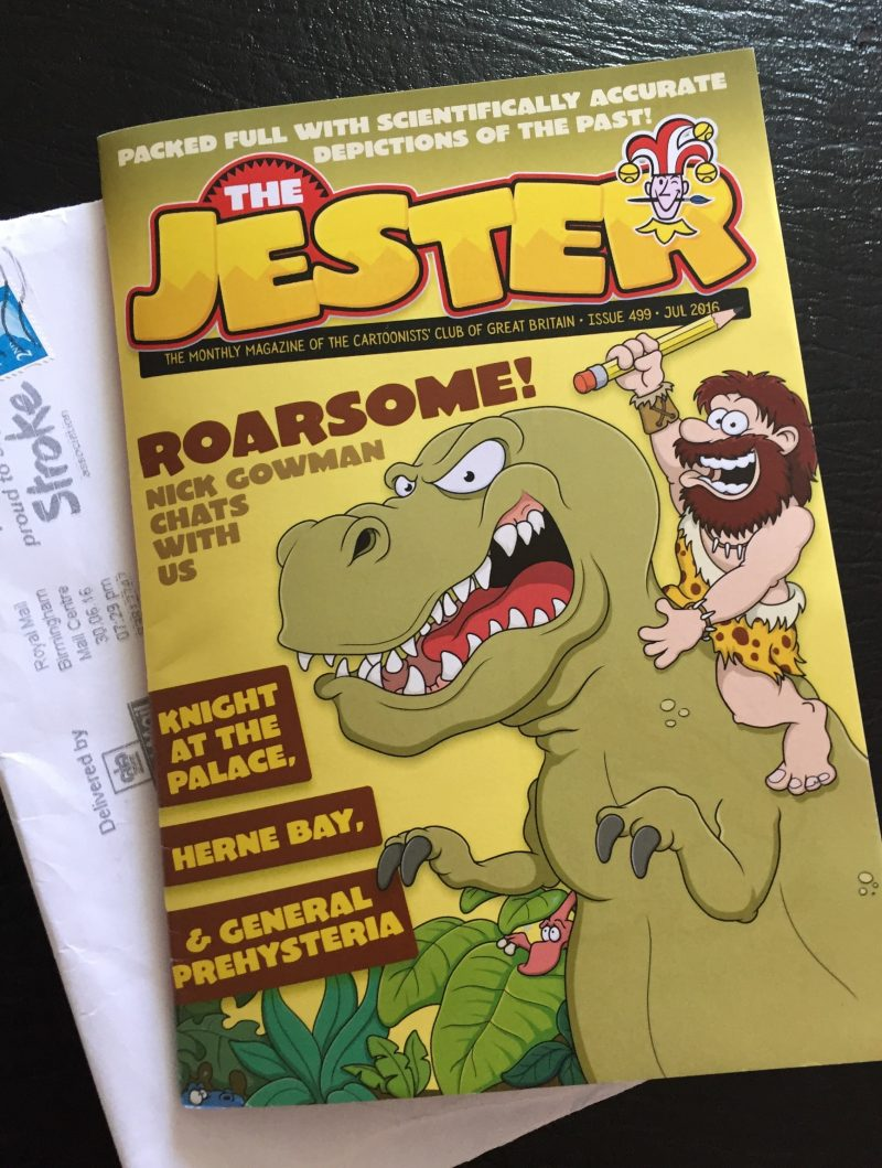 Cartoon Dinosaur on Jester Magazine