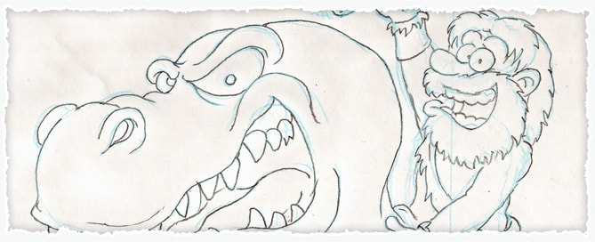 Prehistoric Cartoon Sketch