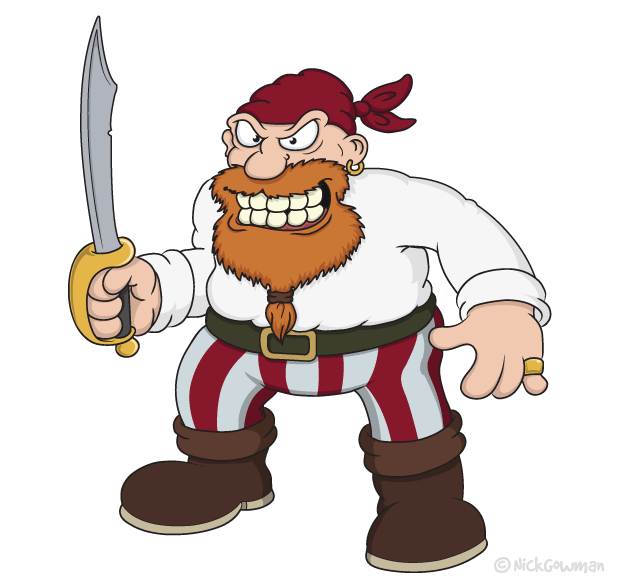 Fierce Cartoon Pirate
