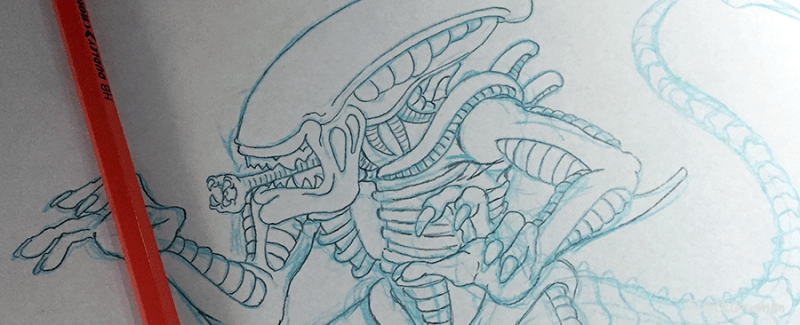 Alien Day Sketch