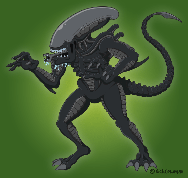 Xenomorph Cartoon