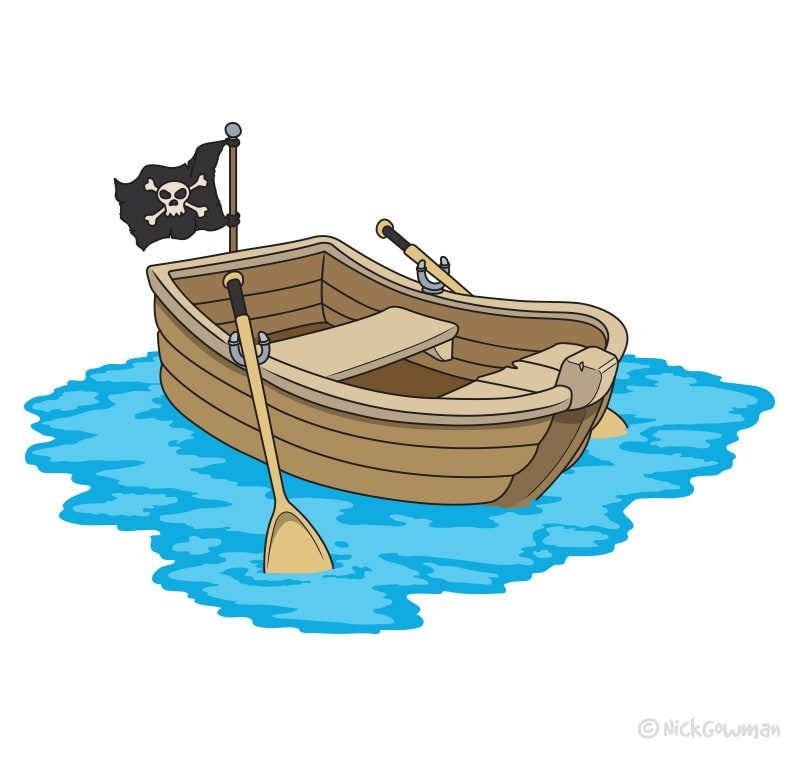 Cartoon Rowboat