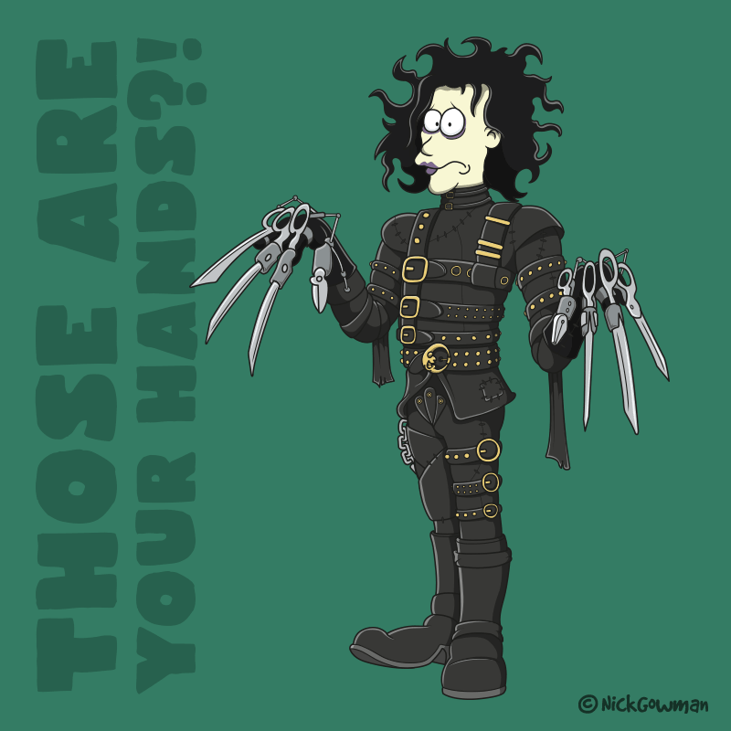 Edward Scissorhands Cartoon