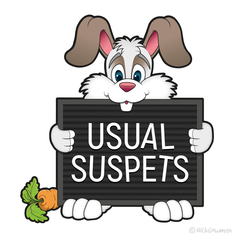 Usual Suspets Rabbit Logo