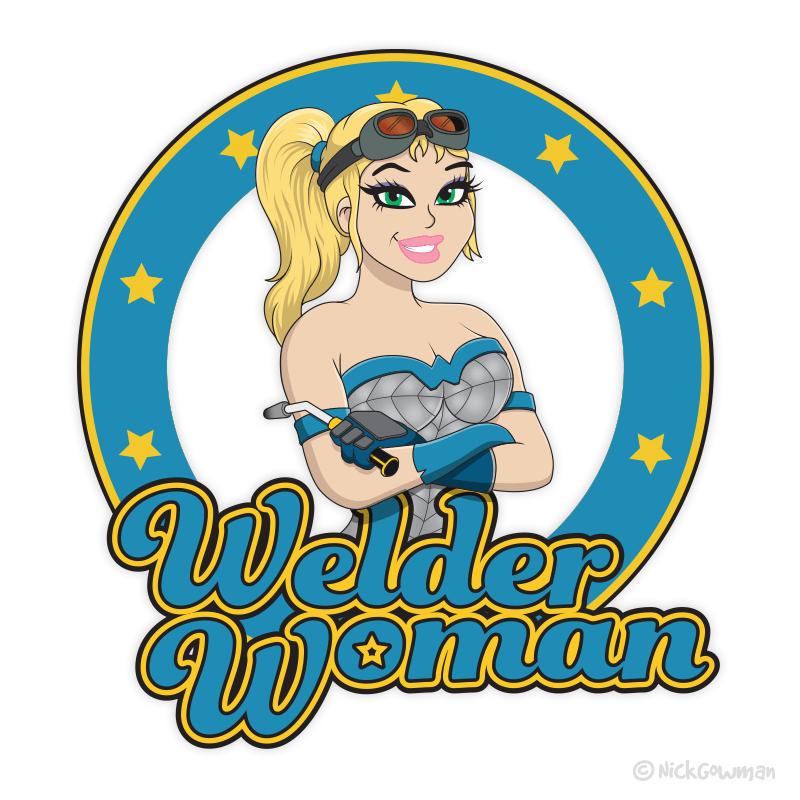 Welder Woman Logo