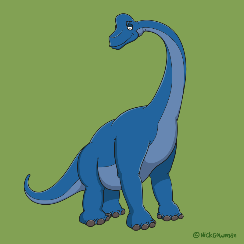 brachiosaurus cartoon