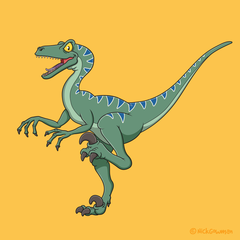 Cartoon Velociraptor
