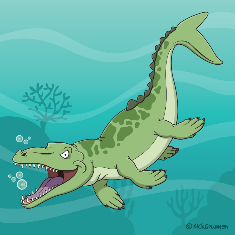Dakosaurus Cartoon