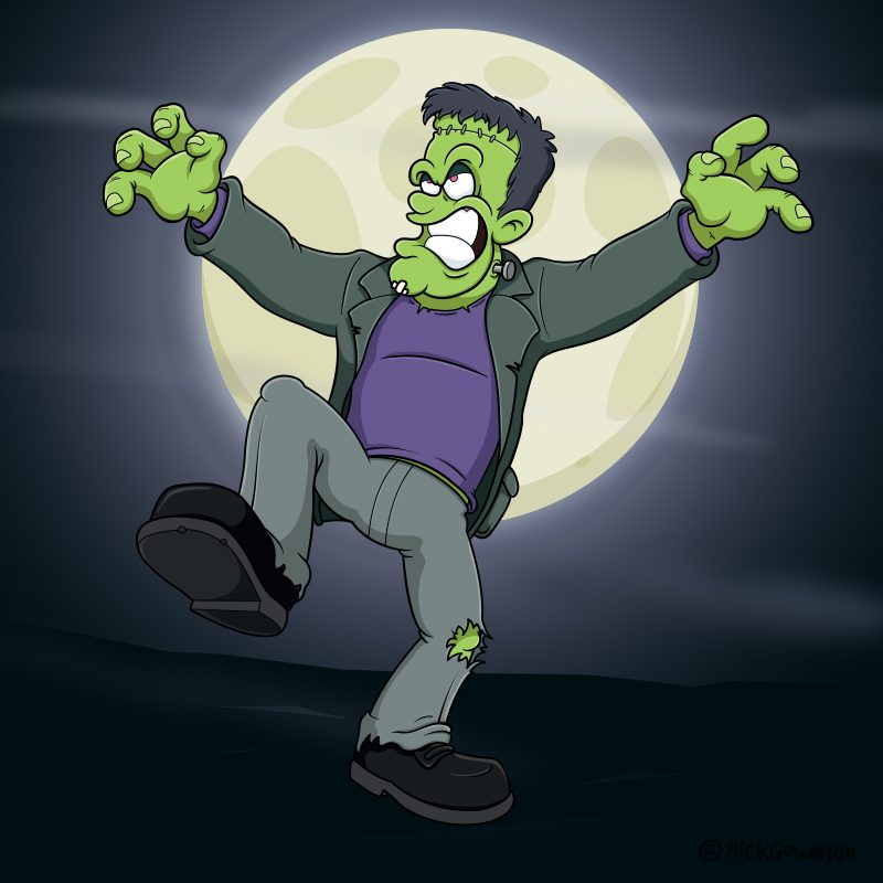 cartoon frankenstein