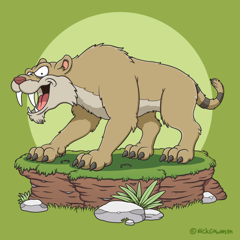 sabre tooth tiger cartoon