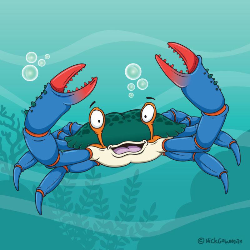 blue crab cartoon