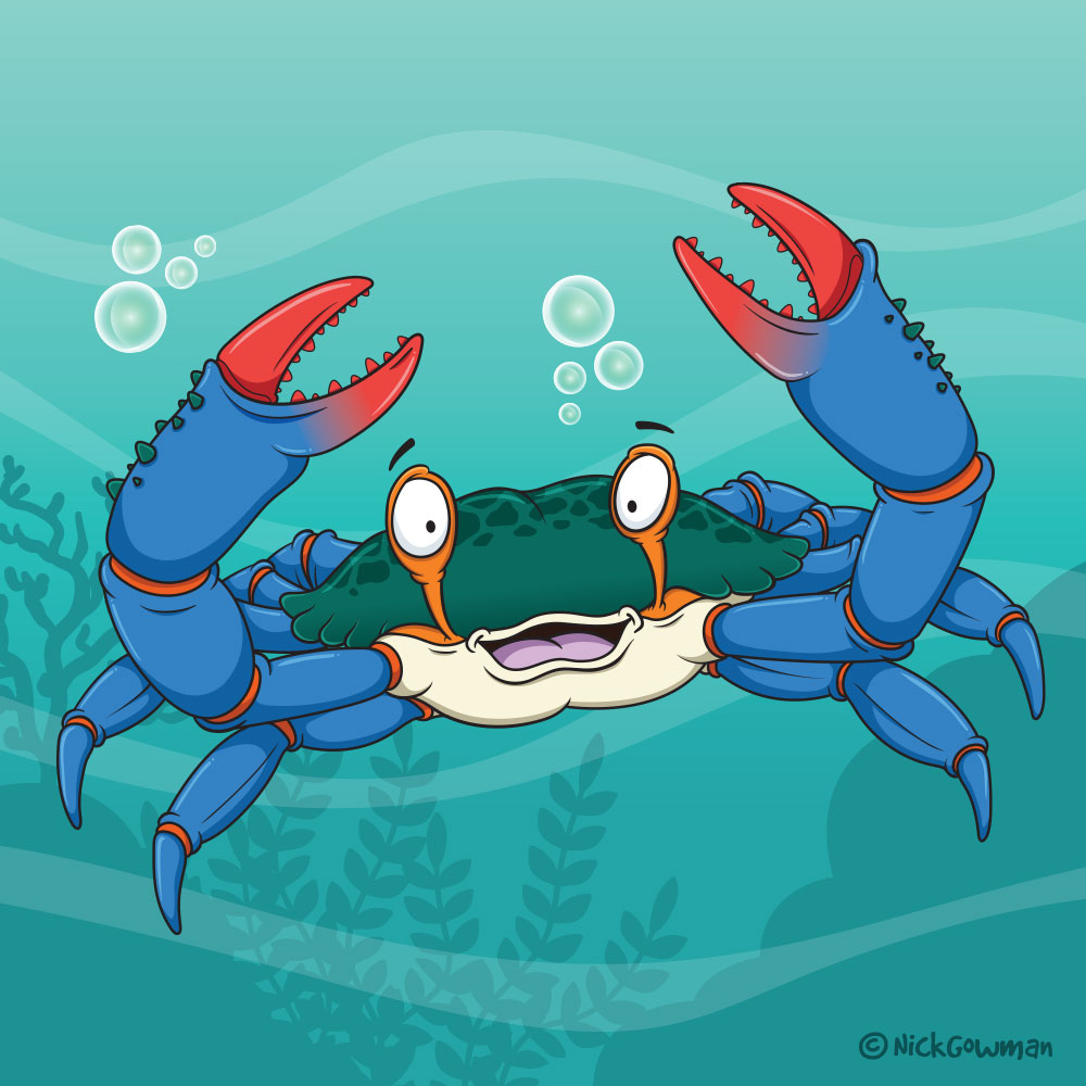 blue crab cartoon