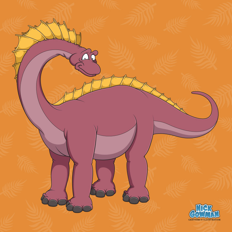 Cartoon Amargasaurus