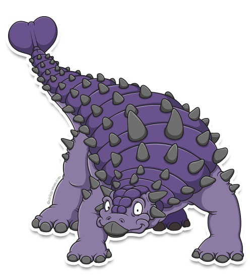 cartoon ankylosaurus