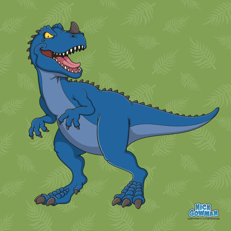 Cartoon Ceratosaurus
