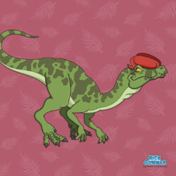 cartoon dilophosaurus