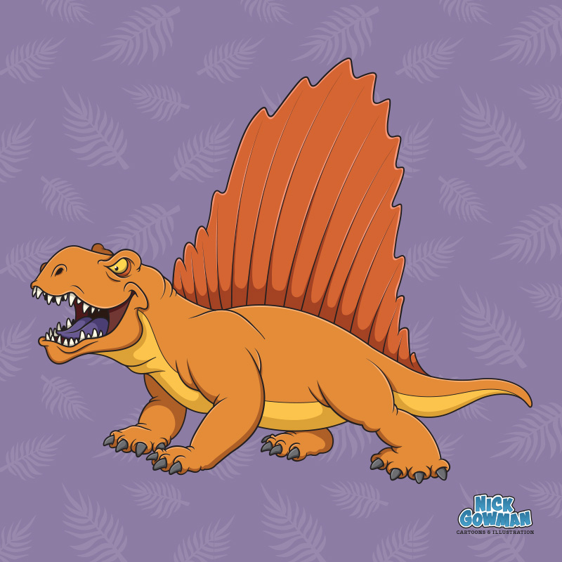 Cartoon Dimetrodon