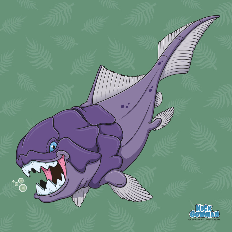 Cartoon Dunkleosteus