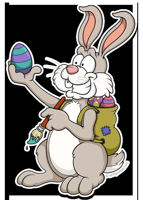 cartoon easter bunny cartoonist for hire