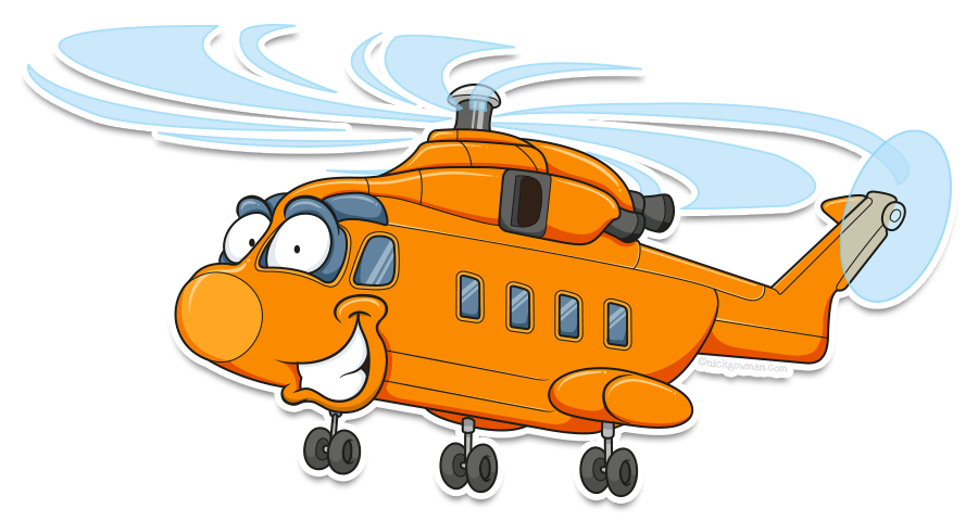cartoon helicopter mascot design