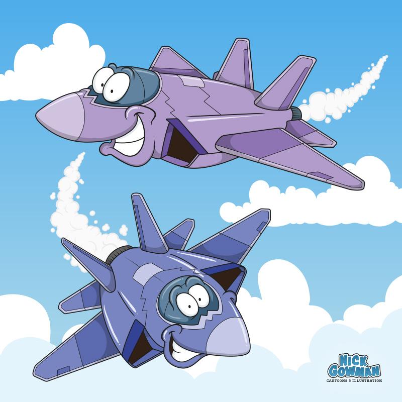 cartoon jet planes