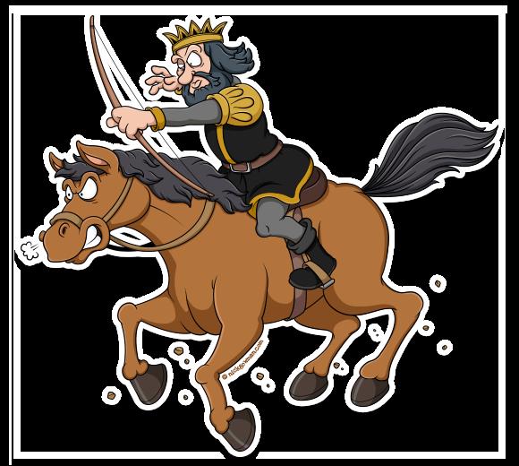 Cartoon King on Horse