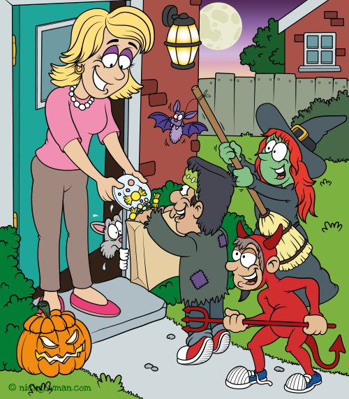 Trick Or Treat Children's Book Illustration