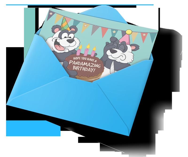 custom cartoon birthday cards