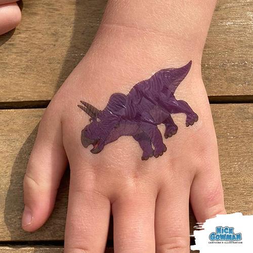 Your dinosaur temporary tattoos are good to go!