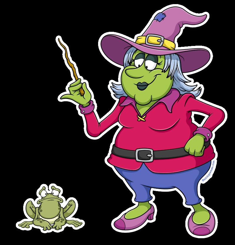 Friendly Cartoon Witch