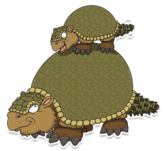 cartoon Glyptodon