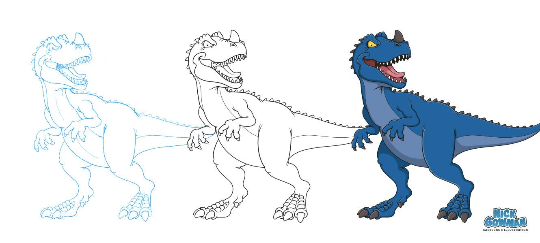 Jurassic June Cartoon Dinosaur