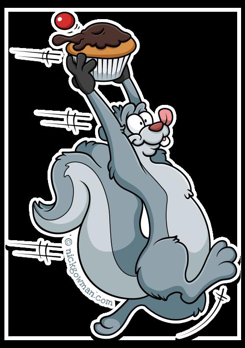 Naughty Cartoon Squirrel
