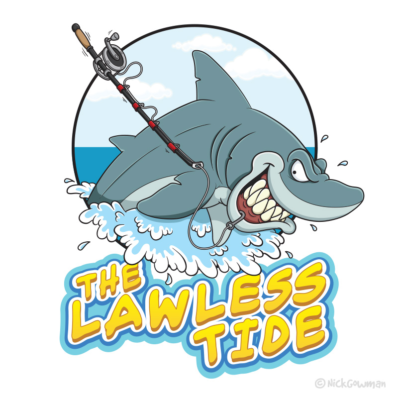 The Lawless Tide Shark Logo