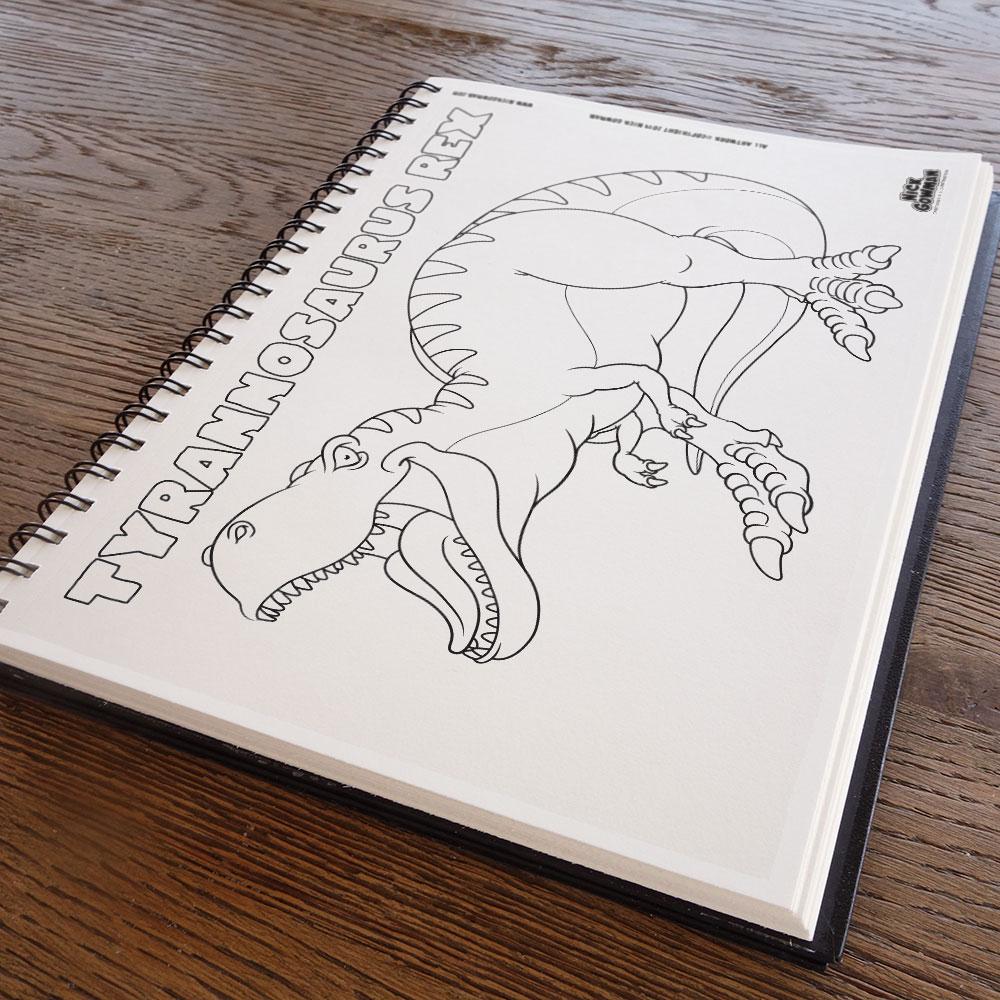 Tyrannosaurus colouring sheet