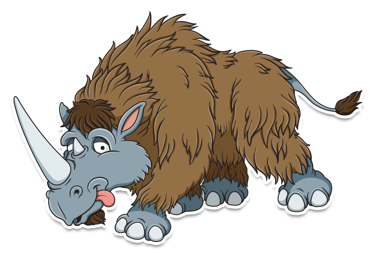 woolly rhino cartoon
